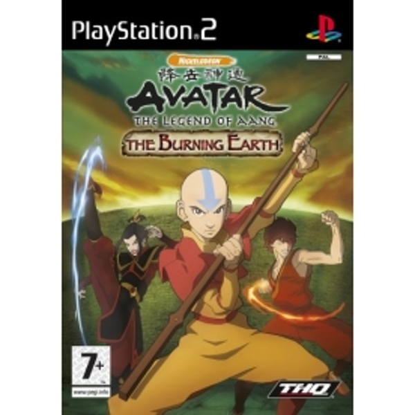 Avatar Games: Avatar The Legend Of Aang The Burning Earth Game PS2