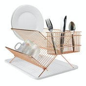 Rose Gold Folding Wire Drainer | M&W