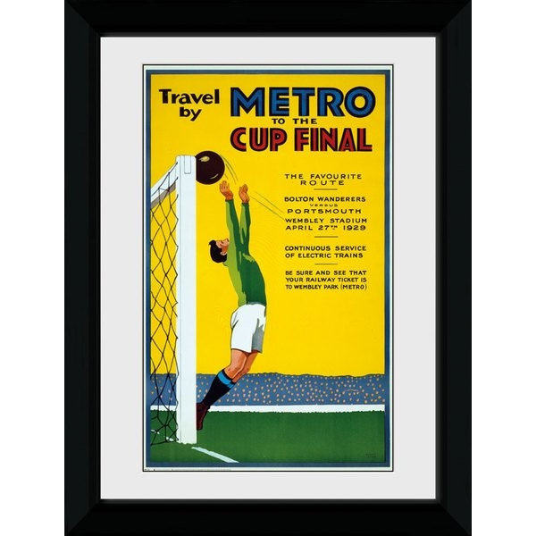 Transport For London Metro To The Cup Final 50 x 70 Framed Collector Print