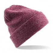 Heather Burgundy Heritage Knitted Beanie ZT