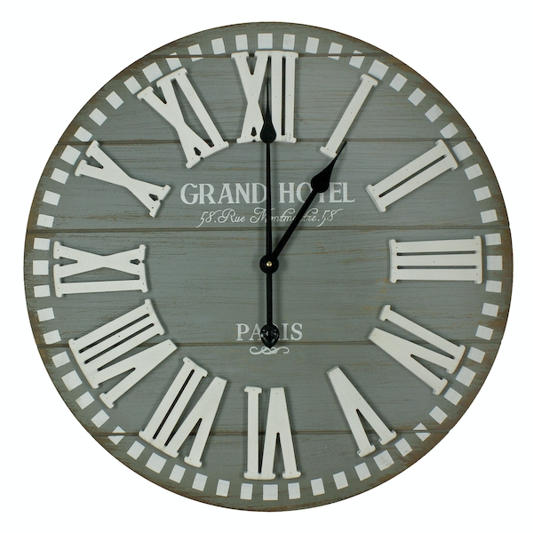 Hometime Large Grand Hotel Wall Clock