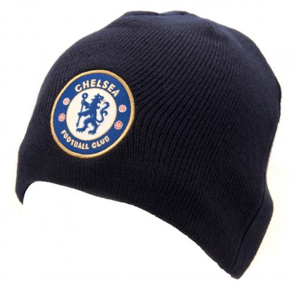 Chelsea FC Knitted Hat Navy