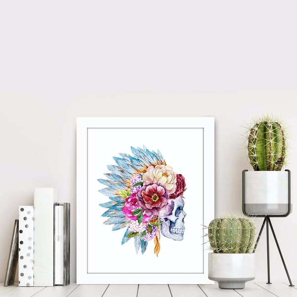 BCT-027 Multicolor Decorative Framed MDF Painting
