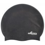 SwimTech Silicone Swim Cap Black