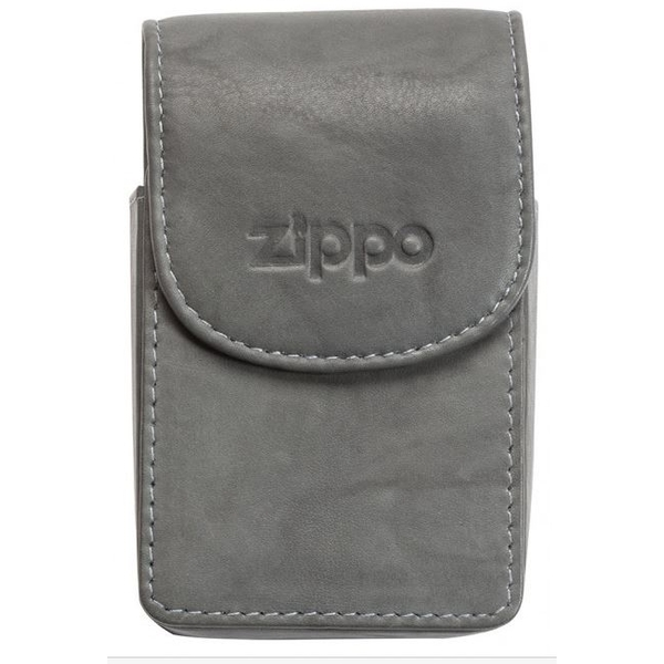 Zippo Leather Cigarette Case Grey