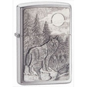 Zippo Timberwolves Emblem Brushed Chrome Windproof Lighter