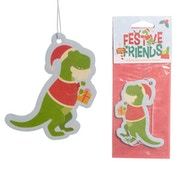 Christmas Spice Festive Friends Dinosaur (Pack Of 6) Air Freshener