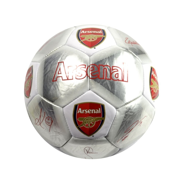 Arsenal Special Edition Signature Football Silver White Size 5