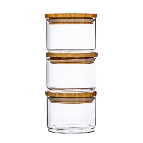 Sass & Belle Stacking Glass Storage Jars -  Set of 3