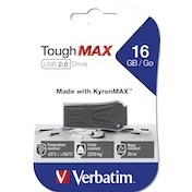 Verbatim ToughMAX USB flash drive 16 GB 2.0 USB Type-A connector Black
