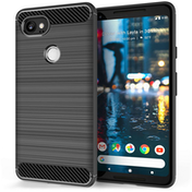 Google Pixel 2 XL Carbon Fibre Gel Case - Black
