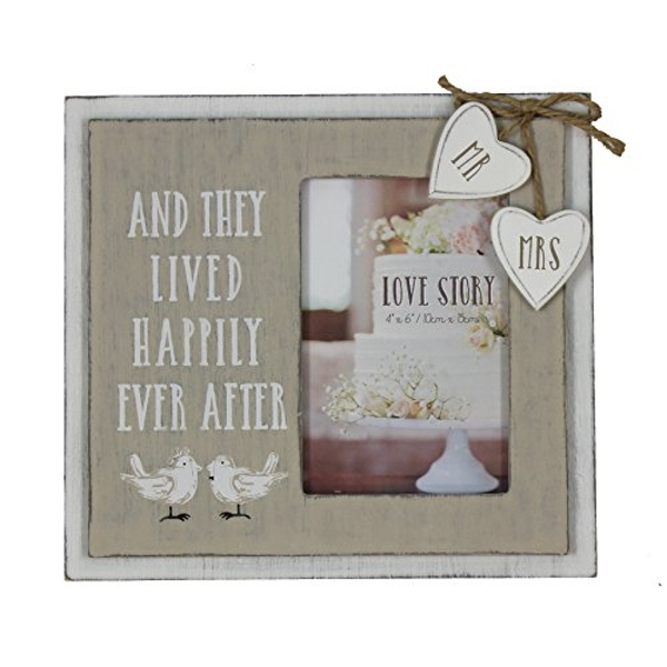 "4"" x 6"" - Love Story Photo Frame - Happily Ever After"