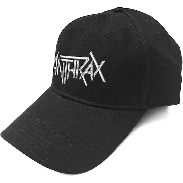 Anthrax - White Logo Men's Baseball Cap - Black