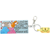 Pack of 6 Loved You Once Key Rings