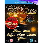 Fast & Furious 1-6 (includes sneak peek of Fast & Furious 7) Blu-ray
