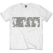 The Beatles White Album Faces Men's White T Shirt: Small