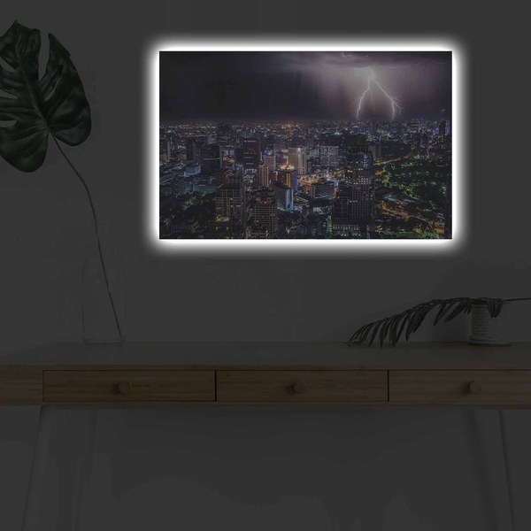 4570DHDACT-131 Multicolor Decorative Led Lighted Canvas Painting