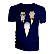 Doctor Who - 10th 11th 12th Vector Triangle Men's Small T-Shirt - Navy Blue