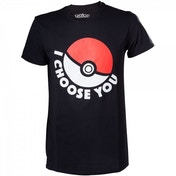 Pokemon I Choose You Mens Medium Black T-Shirt