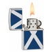 Zippo Scotland Flag Emblem Brushed Chrome Windproof Lighter - Image 2