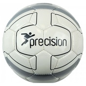 Precision Cordino Match Football (White/Silver/Black) Size 5