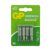 GP Greencell Zinc Pack of 4 AAA Batteries