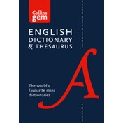 Collins English Dictionary and Thesaurus Gem Edition: Two books-in-one mini format (Collins Gem) by Collins Dictionaries (Paperback, 2016)