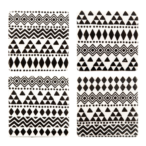 Sass & Belle Scandi Boho Geo Coasters (Set of 4)