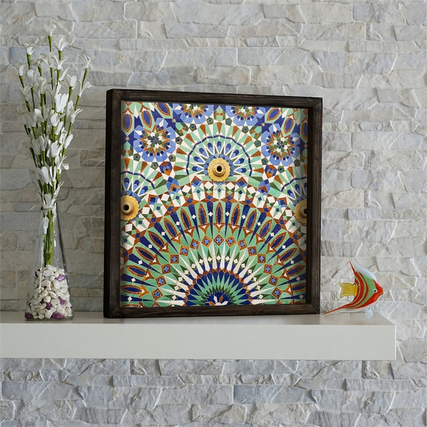 KZM645 Multicolor Decorative Framed MDF Painting