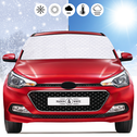 Car Windscreen Cover Frost & Sun | Fabric Windscreen Protector All Weather | M&W