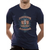 Fantastic Beasts - Magic Wand Men's Large T-Shirt - Blue