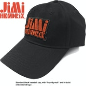 Jimi Hendrix - Orange Stencil Logo Men's Baseball Cap - Black