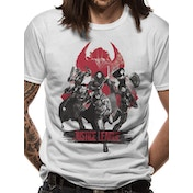 Justice League Movie - Fight Men's Medium T-Shirt - White