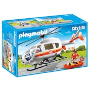 Playmobil City Life Emergency Medical Helicopter with Spinning Rotor Blades