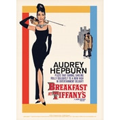 Audrey Hepburn - Breakfast at Tiffany's One-Sheet Postcard