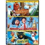 Cloudy With a Chance of Meatballs  Open Season  Surf's Up DVD (2010)