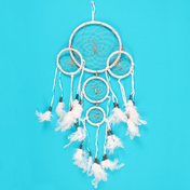 White Triple Dreamcatcher With Beads