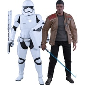 Hot Toys Finn and First Order Riot Control Stormtrooper Set