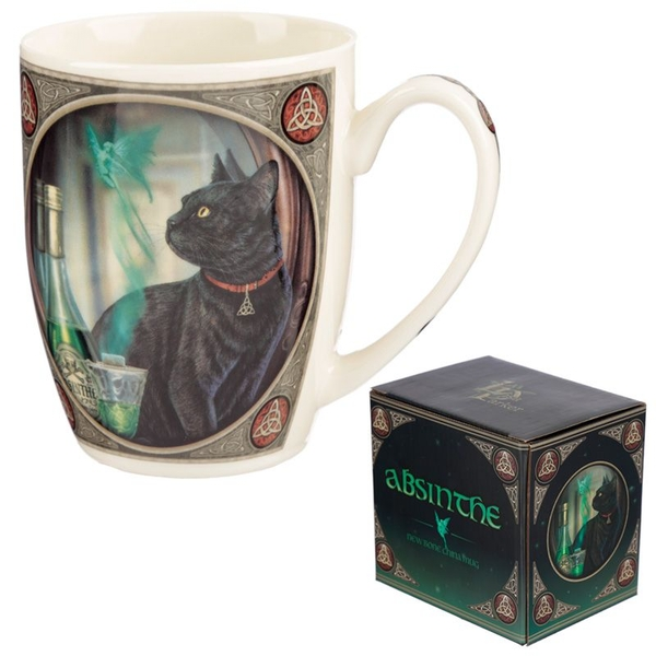 Absinthe Cat New Bone China Mug