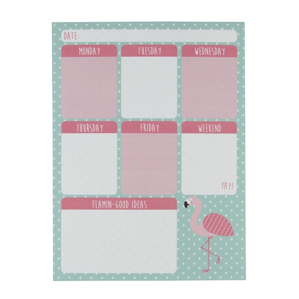 Sass & Belle Tropical Flamingo Weekly Planner Pad