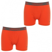 Lonsdale 2 Pack Mens Trunk Boxer Shorts Orange & Charcoal Large