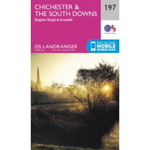 Chichester & the South Downs by Ordnance Survey (Sheet map, folded, 2016)