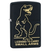 Zippo License to Carry Black Matte Finish Windproof Lighter