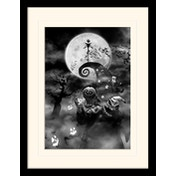 Nightmare Before Christmas - Oogie Boogie Trouble Mounted & Framed 30 x 40cm Print