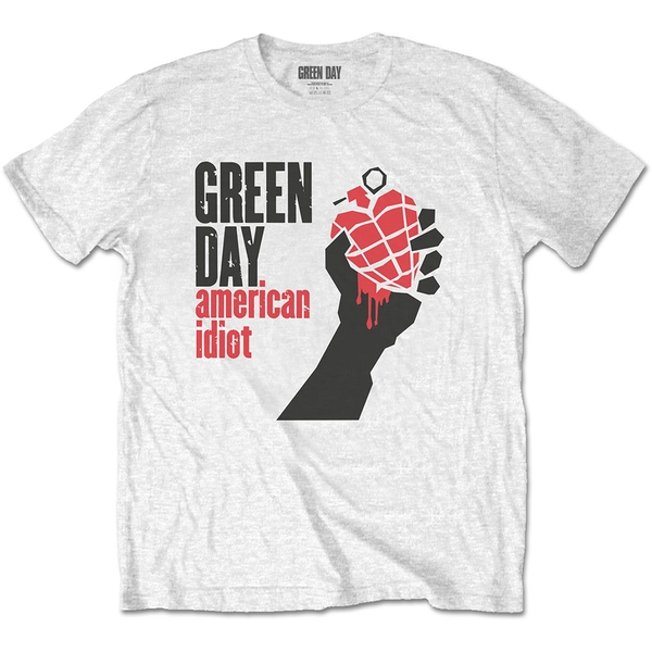 Green Day - American Idiot Men's XX-Large T-Shirt - White