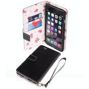 Caseflex iPhone 6 Plus / 6s Plus PU Leather Wallet Case Black/Floral Lining
