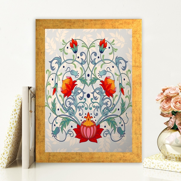 AC408210385 Multicolor Decorative Framed MDF Painting