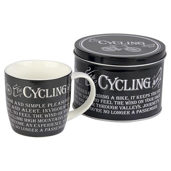 Ultimate Gift for Man Mug in a Tin Cycling