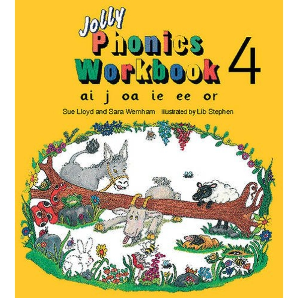 Jolly Phonics Workbook 4: in Precursive Letters (BE) by Sue Lloyd, Sara Wernham (Paperback, 1995)