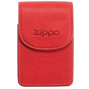 Zippo Leather Cigarette Case Red